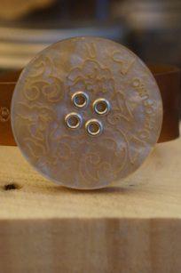 Bracciale per aromaterapia forma tondo decorato