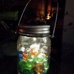 Vaso in vetro con luci led